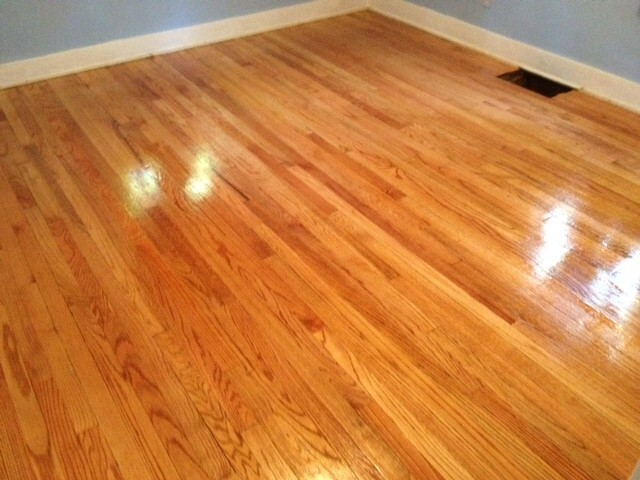 The after shot of one of our hardwood floor refinishing projects.