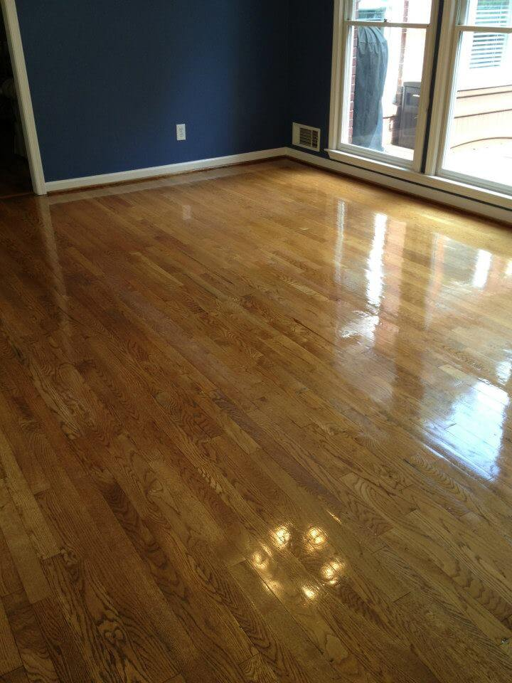 The after shot of one of our hardwood floor resurfacing projects in Huntsville