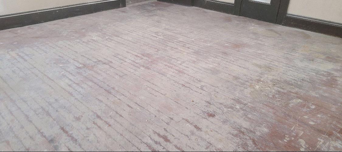 A damaged wood floor in the auburn area