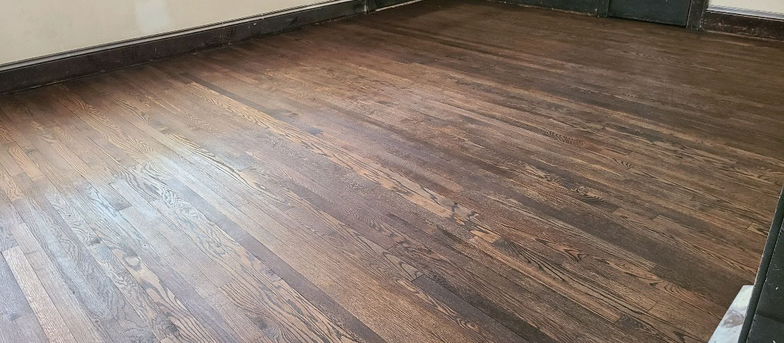 A refinished floor in the auburn area
